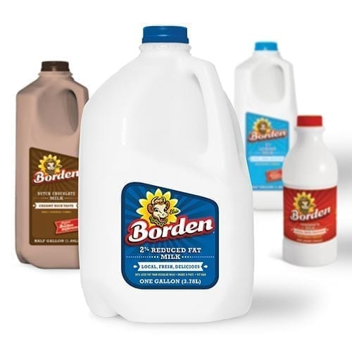 1% low fat Borden Milk/ Leche 1% Bajo en Grasa Borden