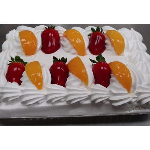 Tres Leches Cake with Strawberry and Peach